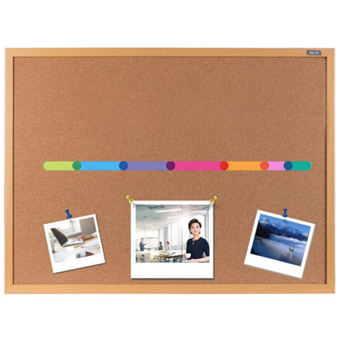 Deli Cork Notice Board with Wooden Frame 90 x 120 x 2cm 8765