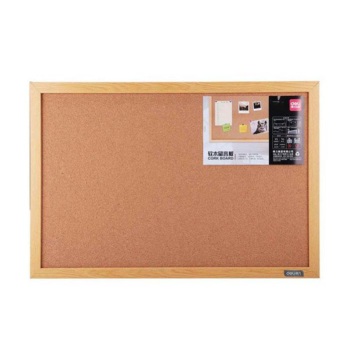 Deli Cork Notice Board with Wooden Frame 40 x 60 x 2cm 8762