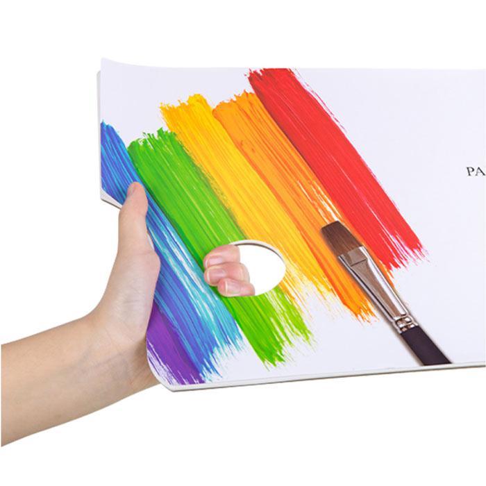 Deli Disposable Palette Paper 375 x 265 x 5mm 30 Sheets 73629