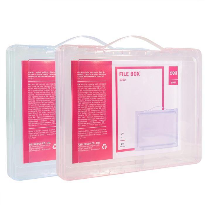 Deli Document Box File with Handle A4 35mm E5702