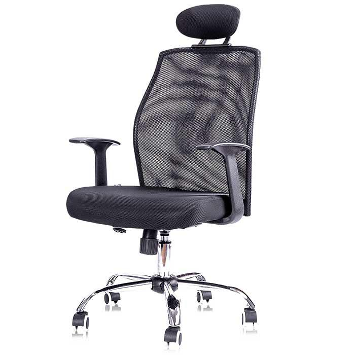 Deli High Back Mesh Office Chair with Arm and Head Rest 4904