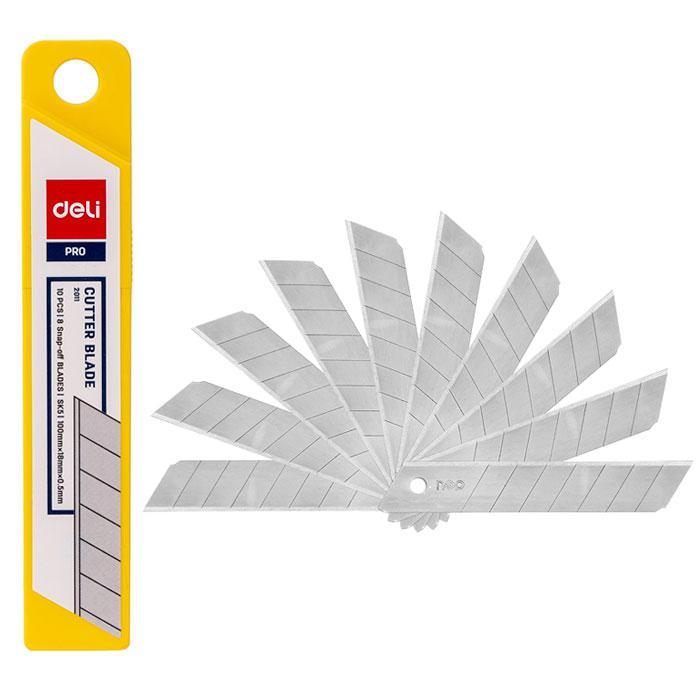 Deli Large Cutter Blade Tube of 10 Pcs E2011