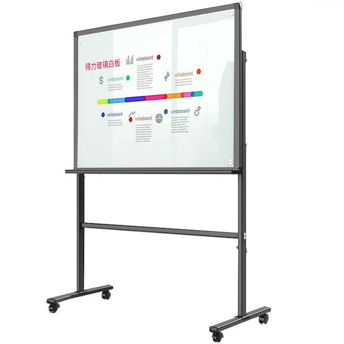 Deli Magnetic Tempered Glass Board with Stand 90 x 150cm 8737