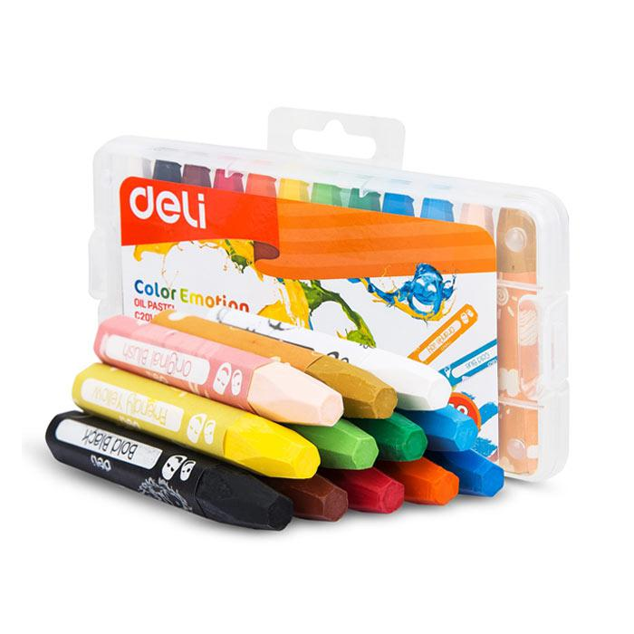 Deli Oil Pastel 12 Colours EC20104