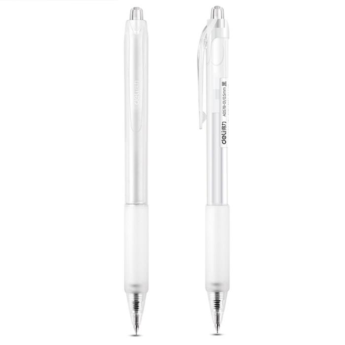 Deli Retractable Gel Pen Black Ink 0.5mm A057B-01