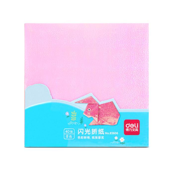 Deli Shining Origami Paper 15 x 15cm 40 Sheets 83606