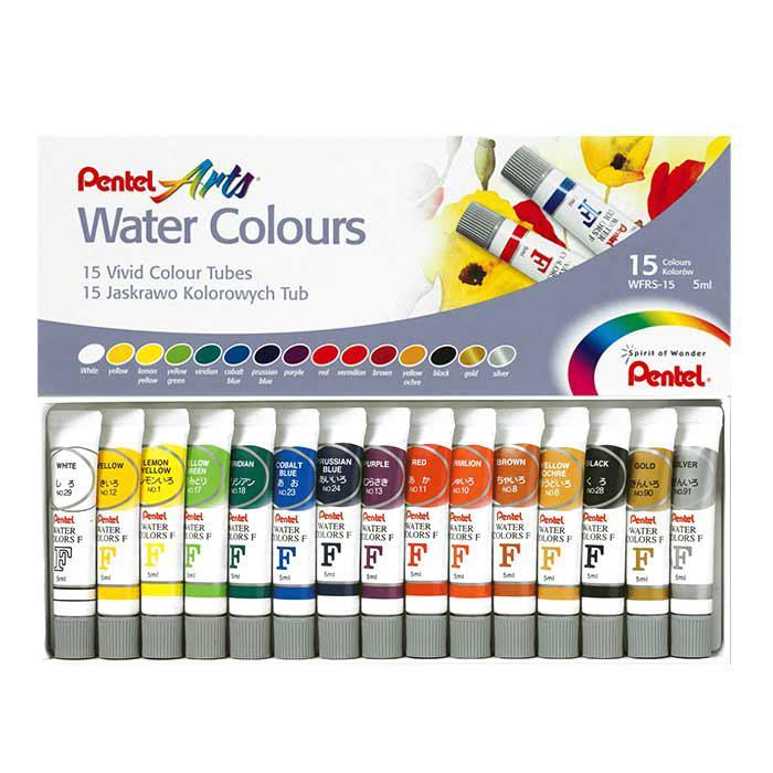 Pentel 15 Watercolours WFRS-15