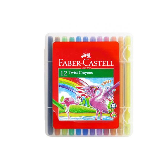 Faber Castell Twist Crayon 12 Colours