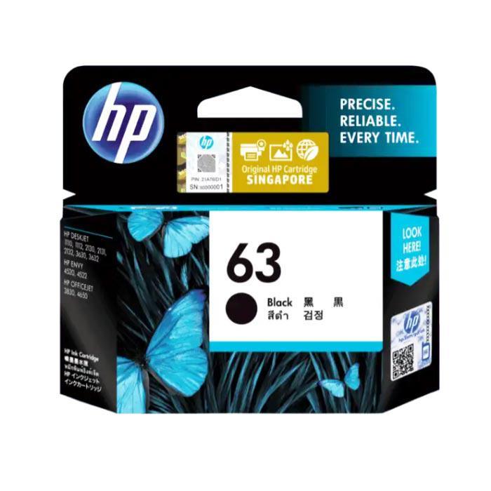 HP 63 Black Ink Cartridge F6U62AA