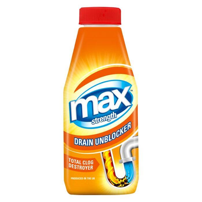 Max Strength Kitchen and Bathroom Drain Unblocker 500ml