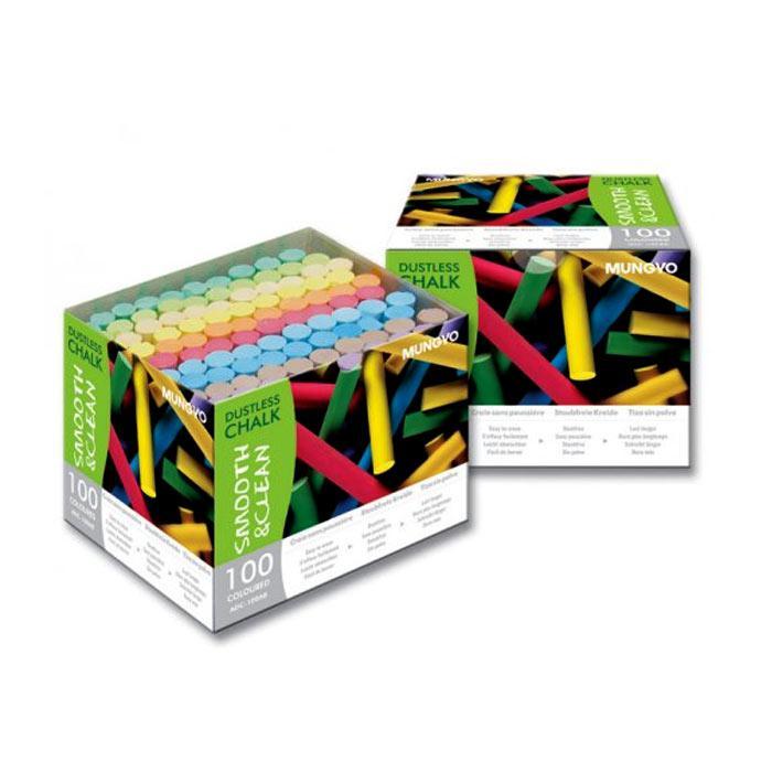 Mungyo Dustless Colour Chalk 100 Pcs