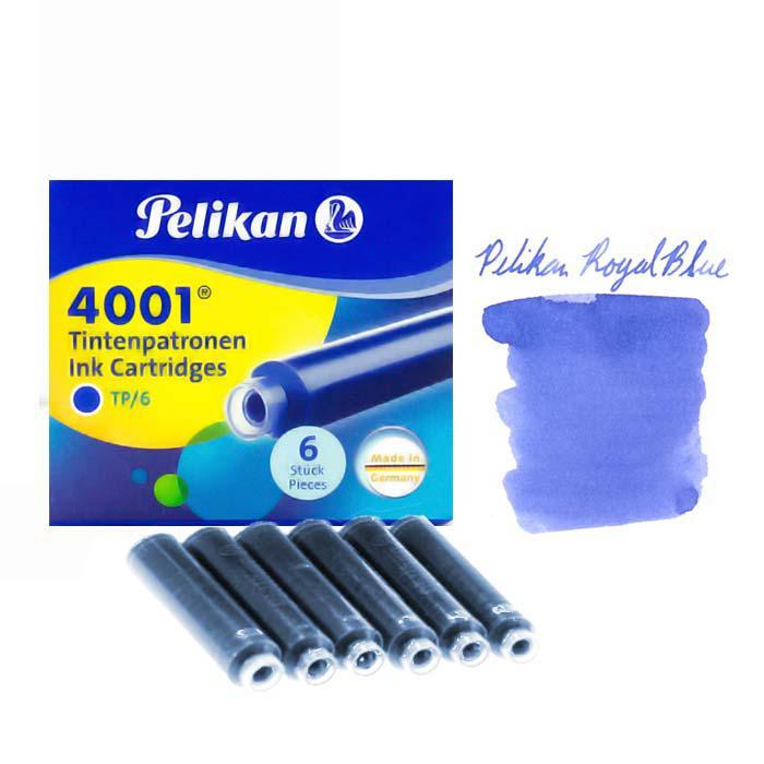 Pelikan Fountain Pen Ink Cartridges 4001 TP/6