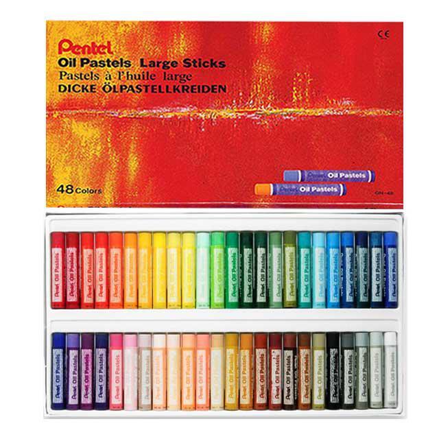 Pentel Oil Pastels Large Sticks 48 Colours GHT-48