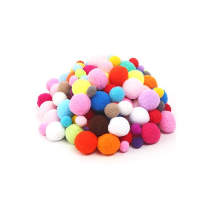 Pom Pom Ball Mix Size Assorted Colour 120s