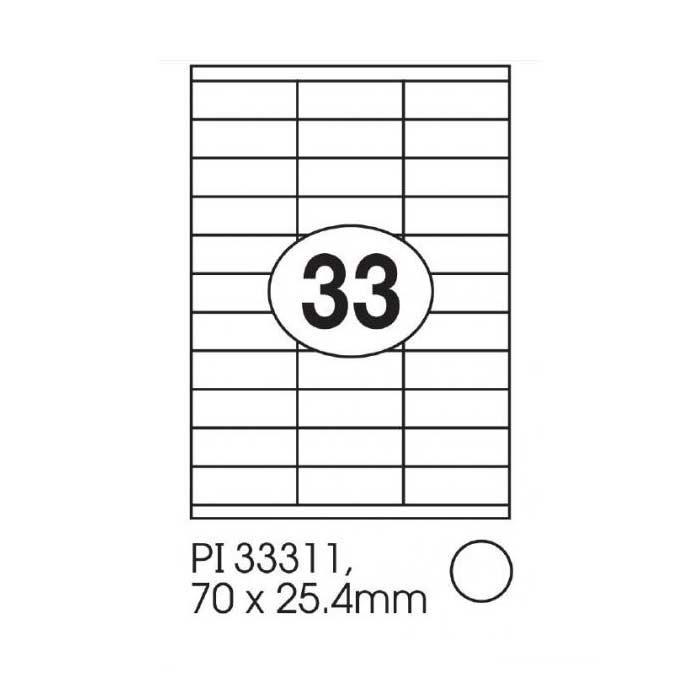 Print-it Laser White Labels 70 x 25.4mm PI-33311