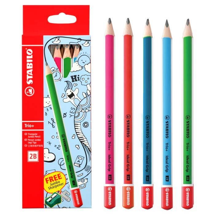 Stabilo Jumbo Full Length 2B Pencil with Sharpener (Box of 6) 364/6