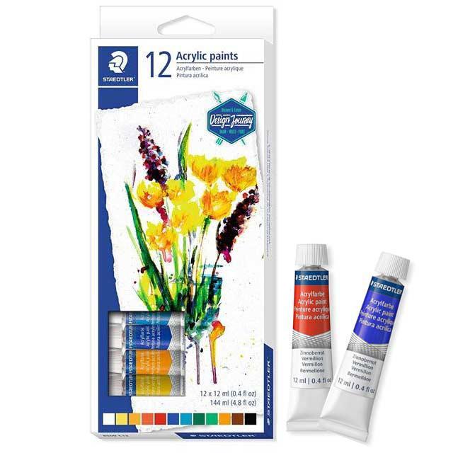 STAEDTLER Acrylic Paint 12 Colour 8500C12