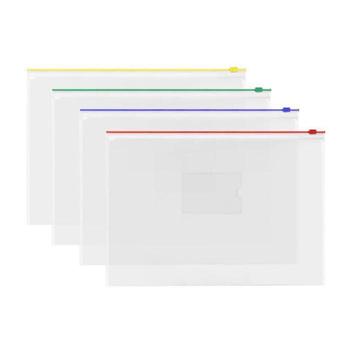 Transparent Zipbag Data Envelope A4