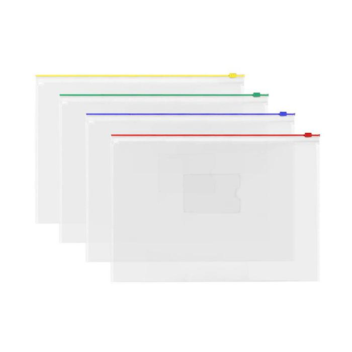 Transparent Zipbag Data Envelope B4