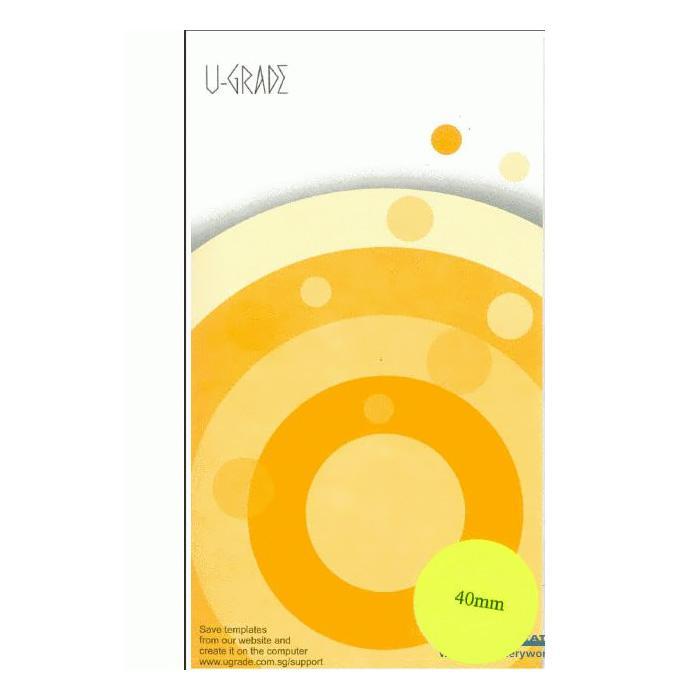 U-Grade Round Labels 40mm